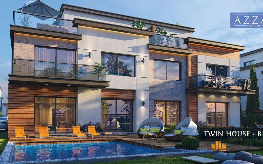 Twin House 290 m in Azar New Cairo